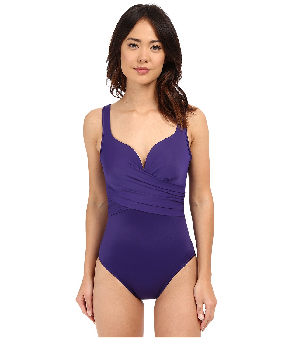 Miraclesuit - New Sensations Conundrum One-Piece (Eggplant) Women's Swimsuits One Piece