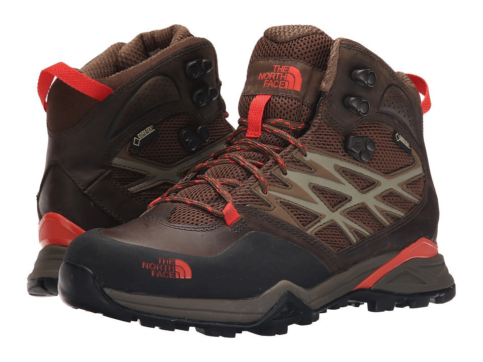 The North Face - Hedgehog Hike Mid GTX (Morel Brown/Radiant Orange) Women's Hiking Boots