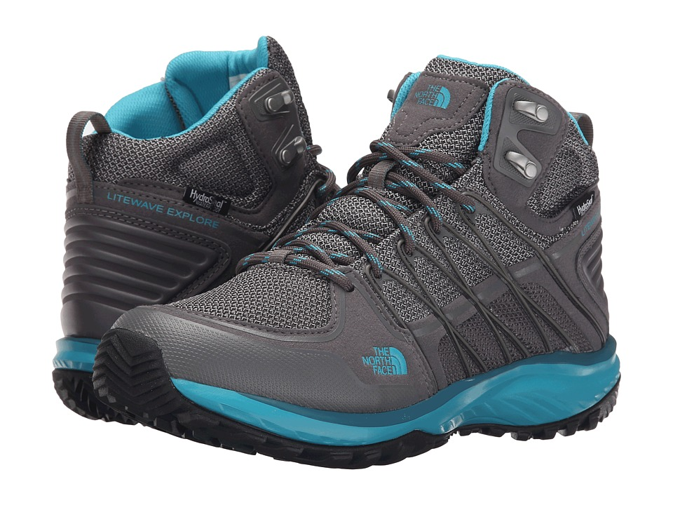 The North Face - Litewave Explore Mid WP (Steeple Grey/Bluebird) Women's Hiking Boots