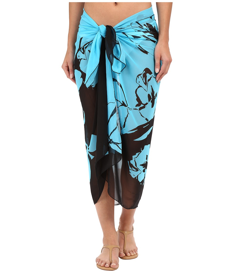 Miraclesuit - Bella Rosa Scarf Pareo Cover-Up (Surf Blue) Women's Swimwear