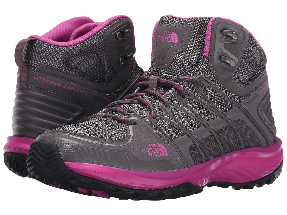 The North Face Litewave Explore Mid (Steeple Grey/Raspberry Rose) Women