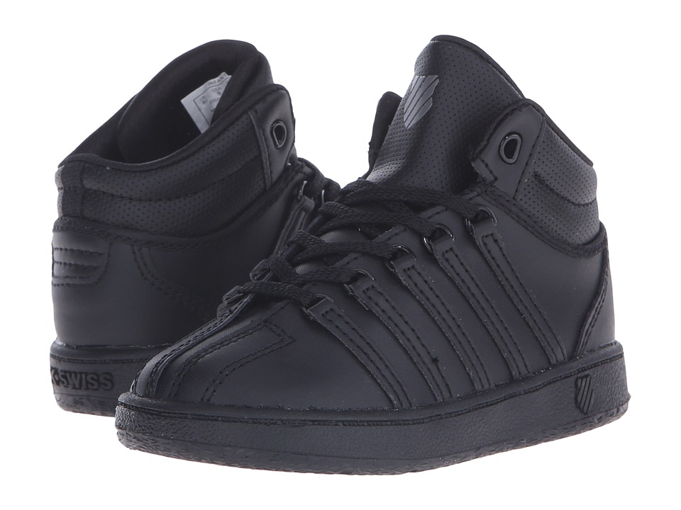 K-Swiss Kids - Classic VN Mid (Infant/Toddler) (Black/Black Leather) Kids Shoes