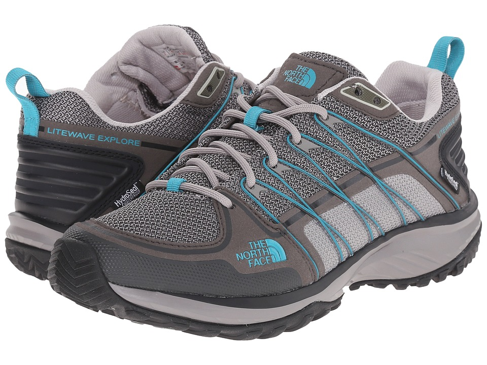 The North Face - Litewave Explore WP (Q-Silver Grey/Bluebird) Women's Shoes
