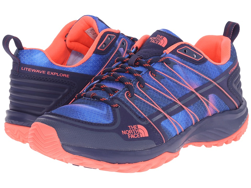 The North Face Litewave Explore (Patriot Blue Print/Tropical Coral) Women