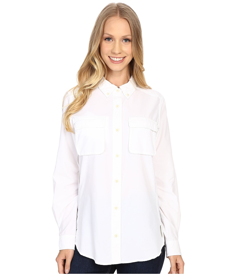 ExOfficio - Air Strip Long Sleeve Shirt (White) Women's Long Sleeve Button Up