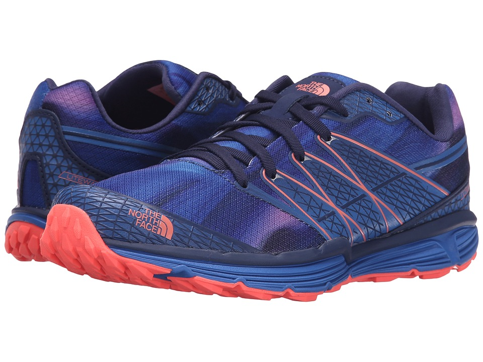 The North Face - Litewave TR (Patriot Blue Print/Tropical Coral) Women's Running Shoes