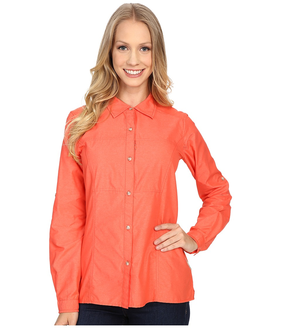 ExOfficio Lightscape Long Sleeve Shirt (Hot Coral) Women