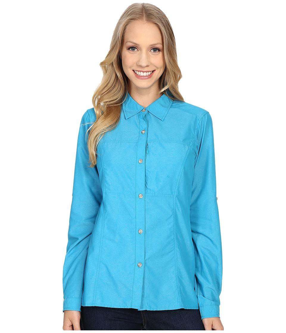 ExOfficio - Lightscape Long Sleeve Shirt (Deep Sea) Women's Long Sleeve Button Up