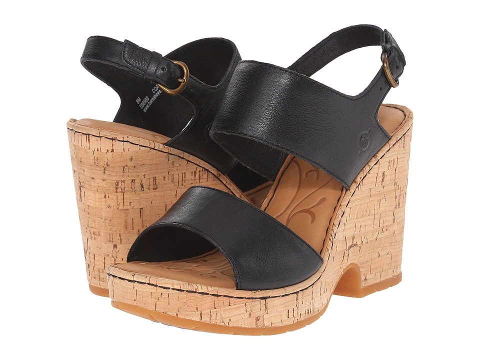 Born - Annaleigh (Black Full Grain Leather) High Heels