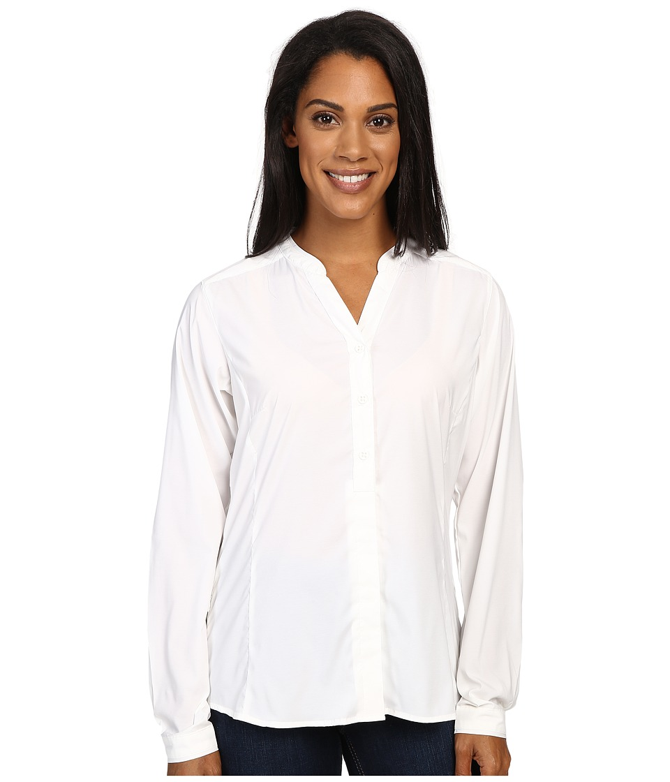 ExOfficio - Safiri Long Sleeve Shirt (White) Women's Long Sleeve Button Up