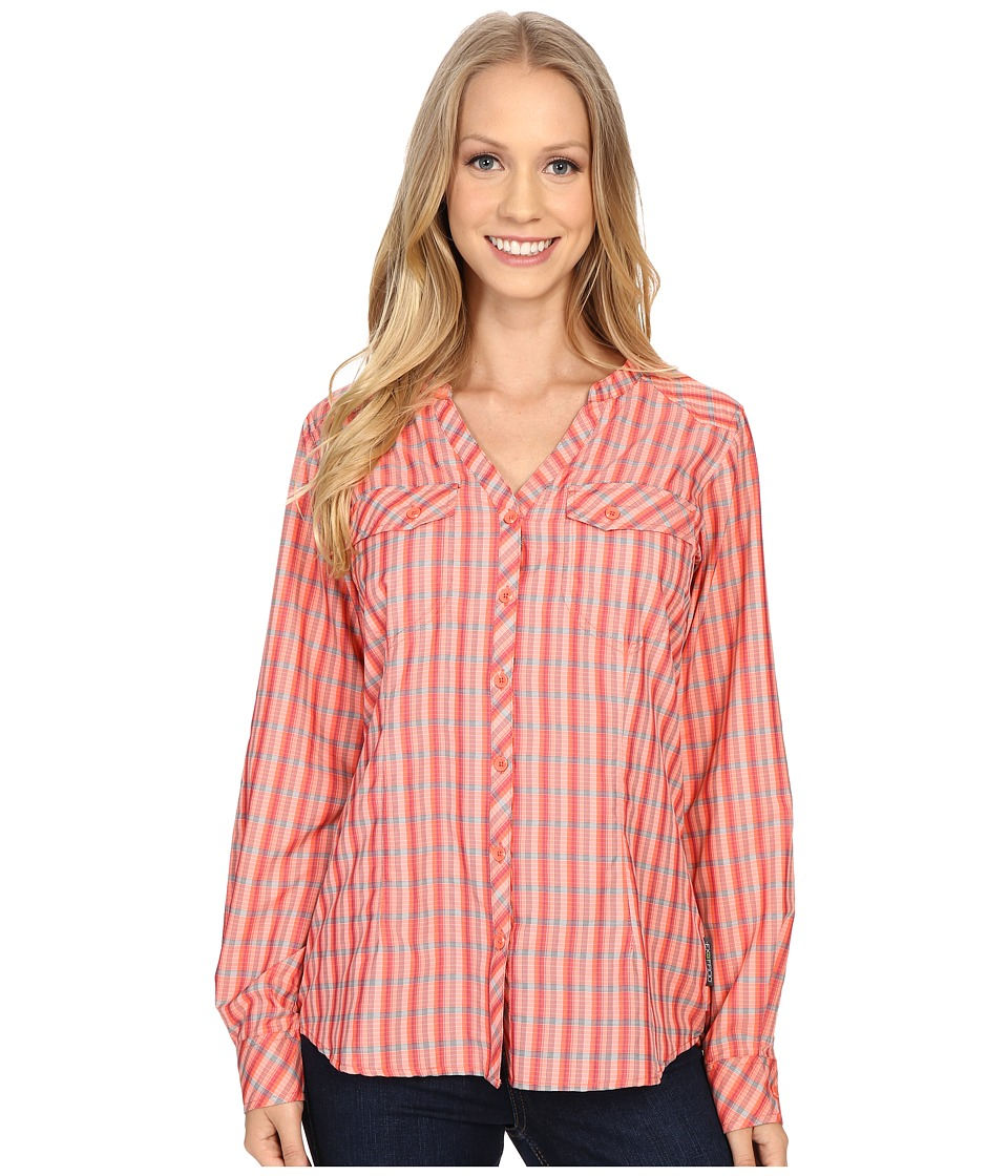 ExOfficio Airhart Long Sleeve Shirt (Hot Coral) Women