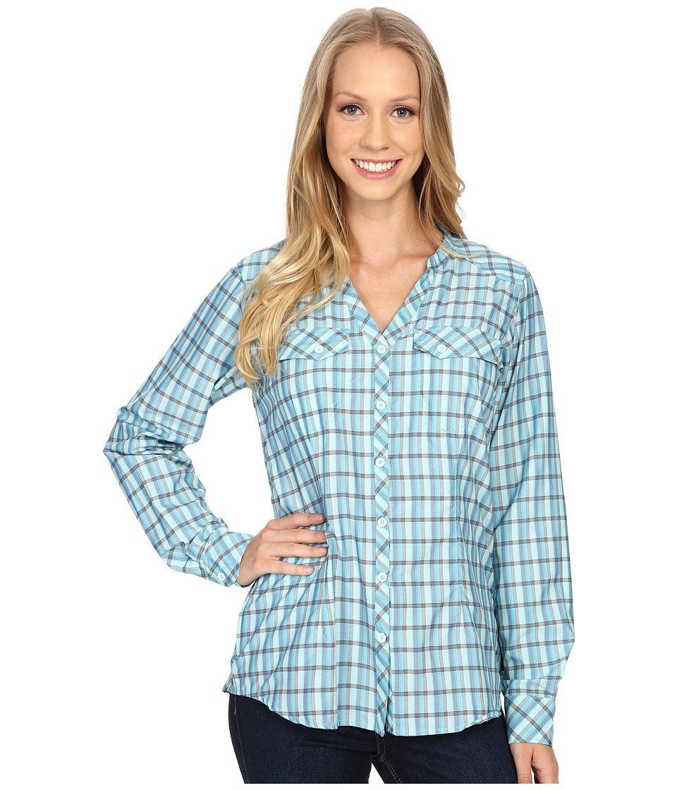 ExOfficio Airhart Long Sleeve Shirt (Azul) Women