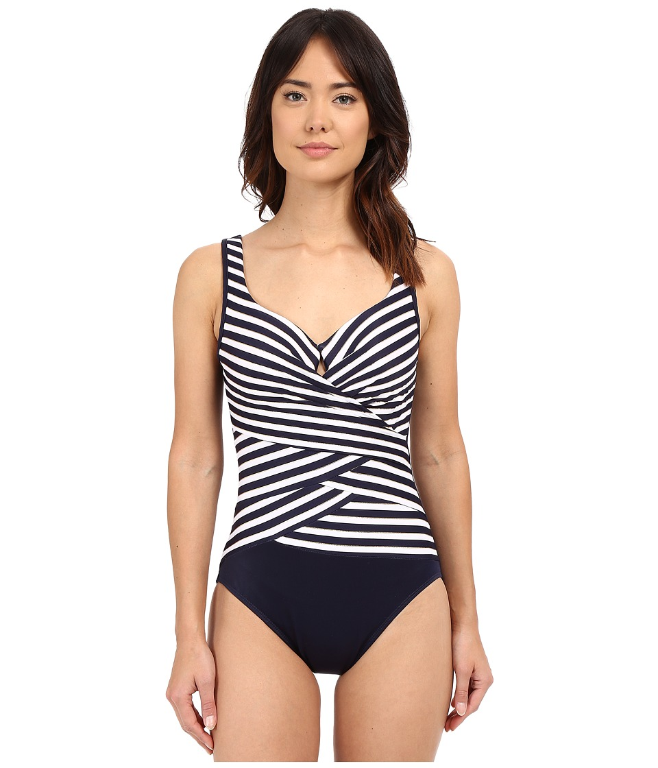 Miraclesuit - New Directions Layered Escape One-Piece (Midnight Blue) Women's Swimsuits One Piece