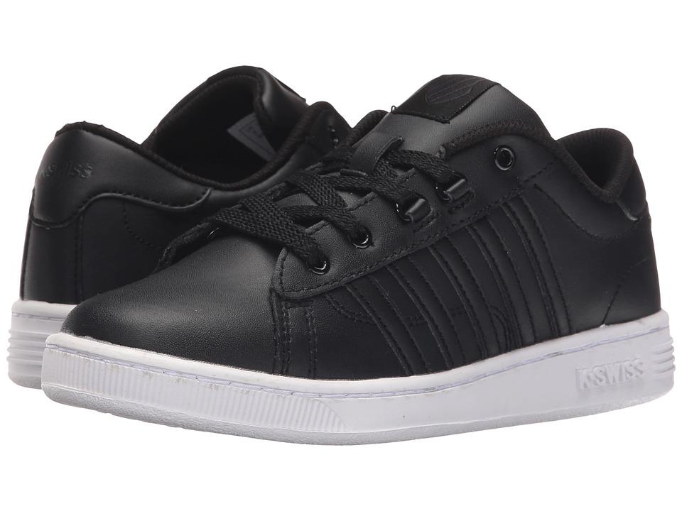 K-Swiss Kids - Hoke (Big Kid) (Black/White Leather) Kids Shoes