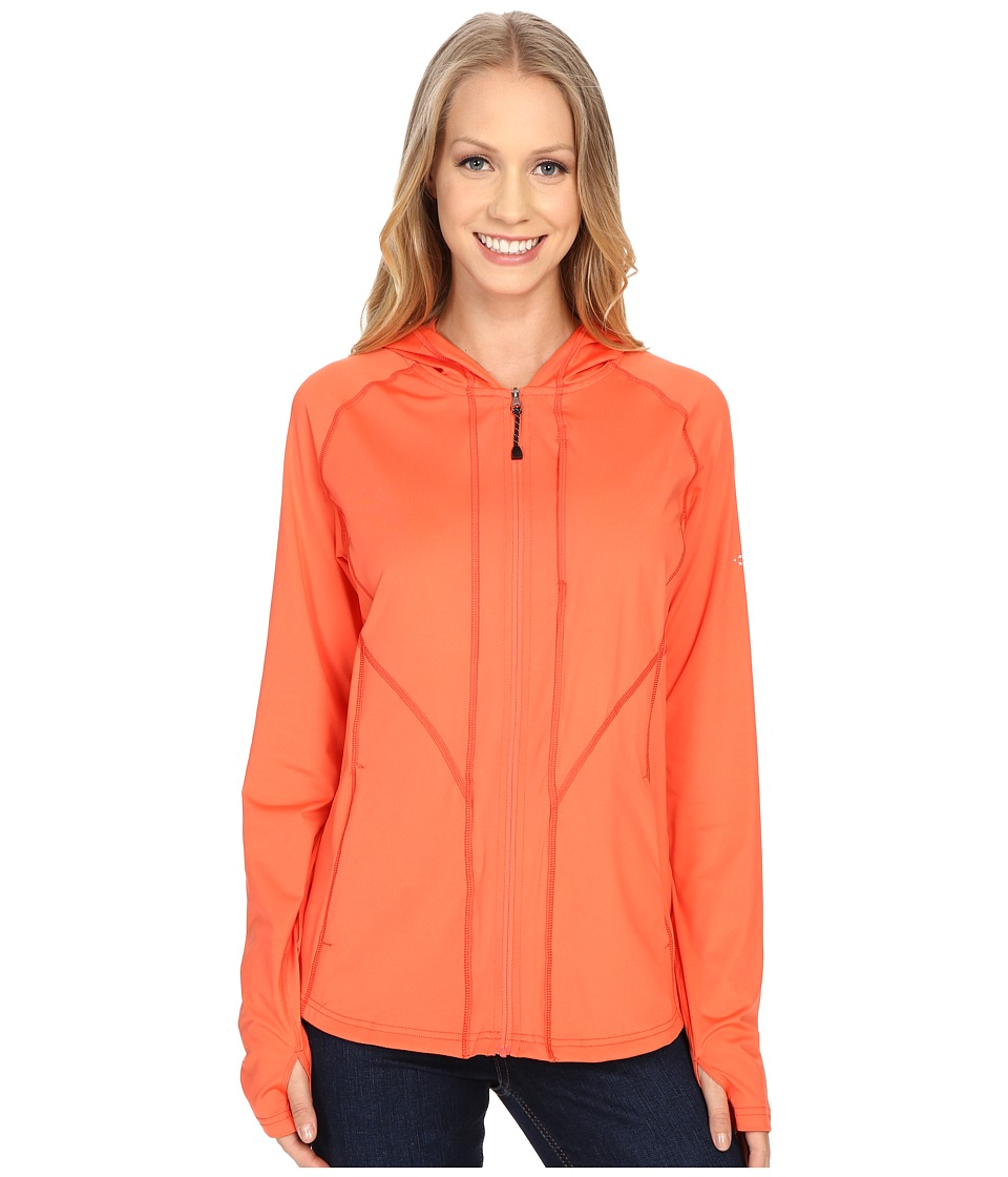 ExOfficio - Sol Cool Hooded Zippy (Hot Coral) Women's Sweatshirt