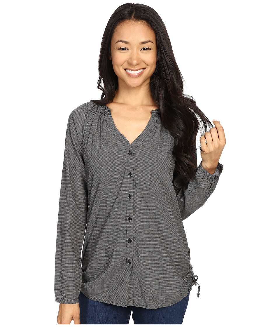 ExOfficio - BugsAway Kutula Tunic (Black) Women's Long Sleeve Button Up