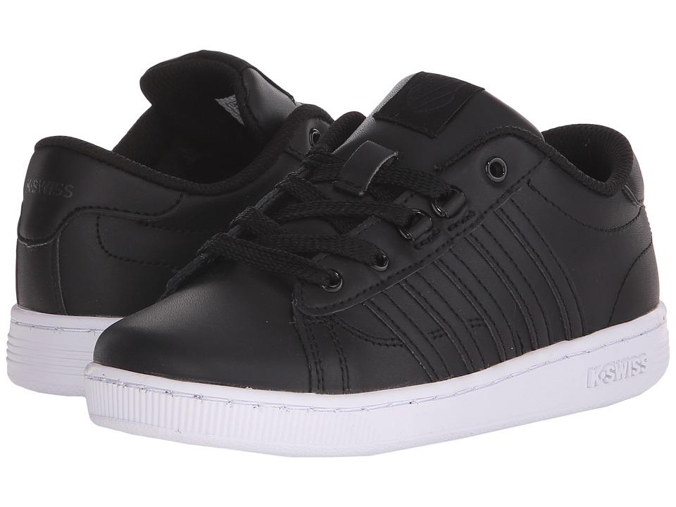 K-Swiss Kids - Hoke (Little Kid) (Black/White Leather) Kids Shoes