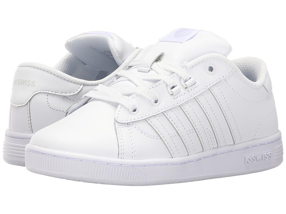 K-Swiss Kids - Hoke (Little Kid) (White/White Leather) Kids Shoes