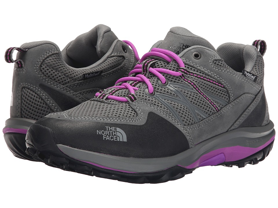 The North Face - Storm Fastpack WP (Moon Mist Grey/Sweet Violet) Women's Cross Training Shoes
