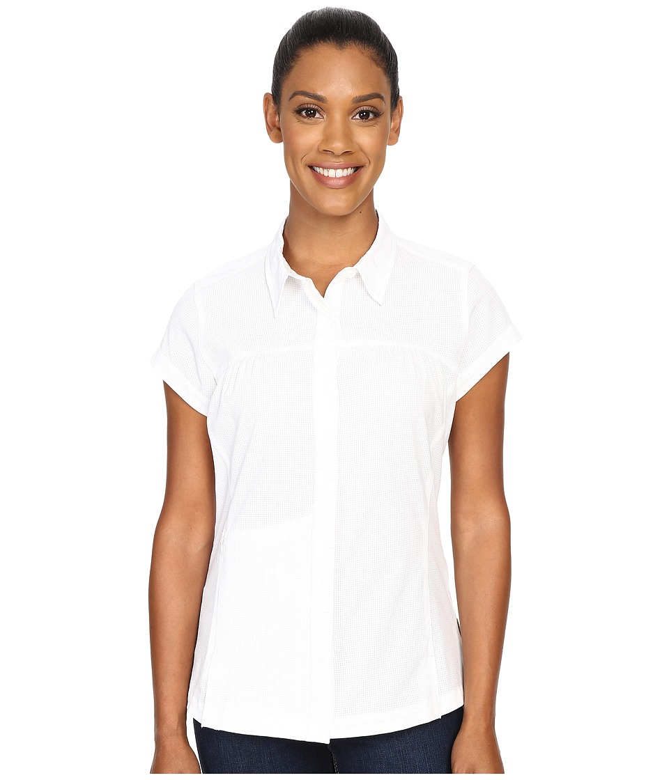 ExOfficio - Air Space Short Sleeve Shirt (White) Women's Clothing