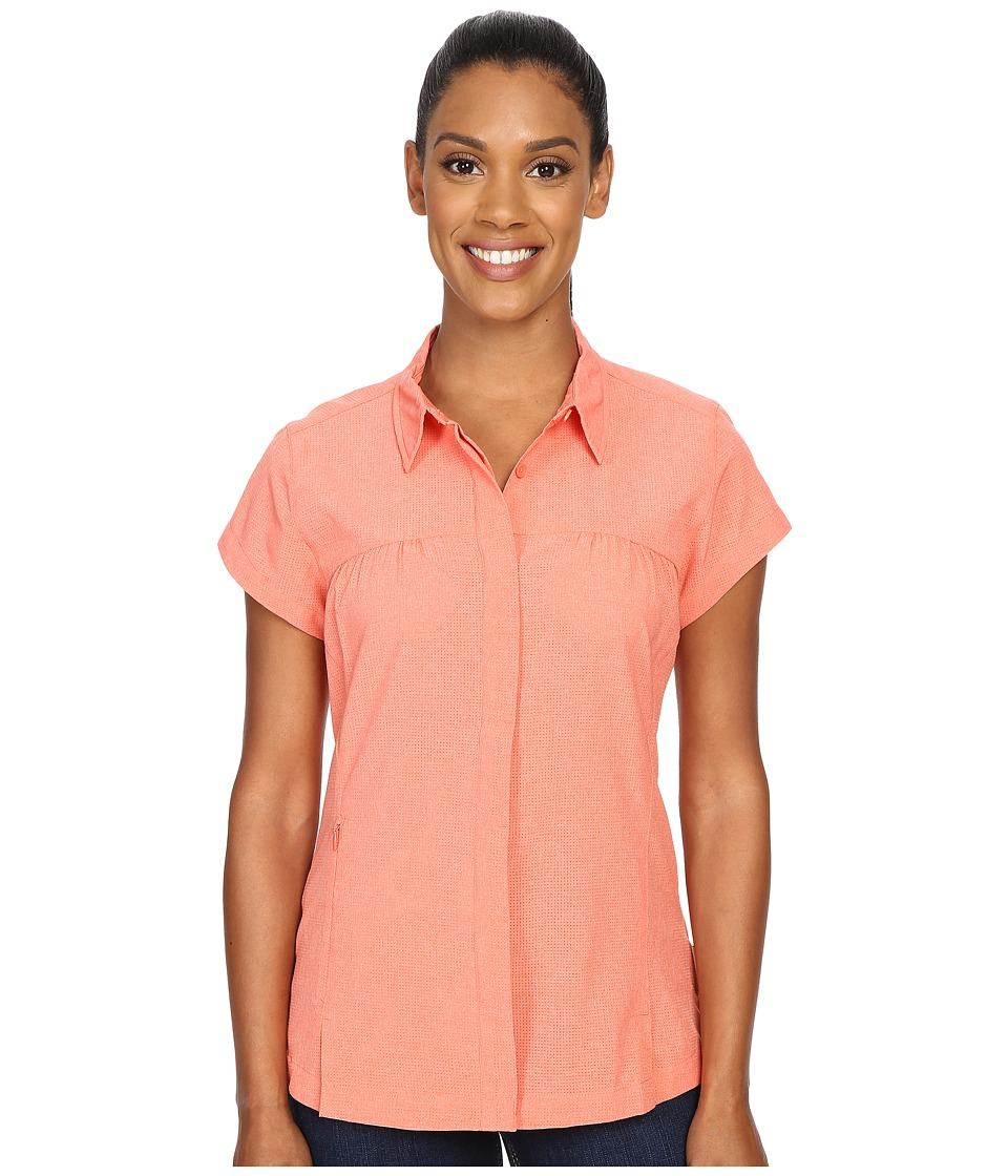 ExOfficio - Air Space Short Sleeve Shirt (Hot Coral) Women's Clothing