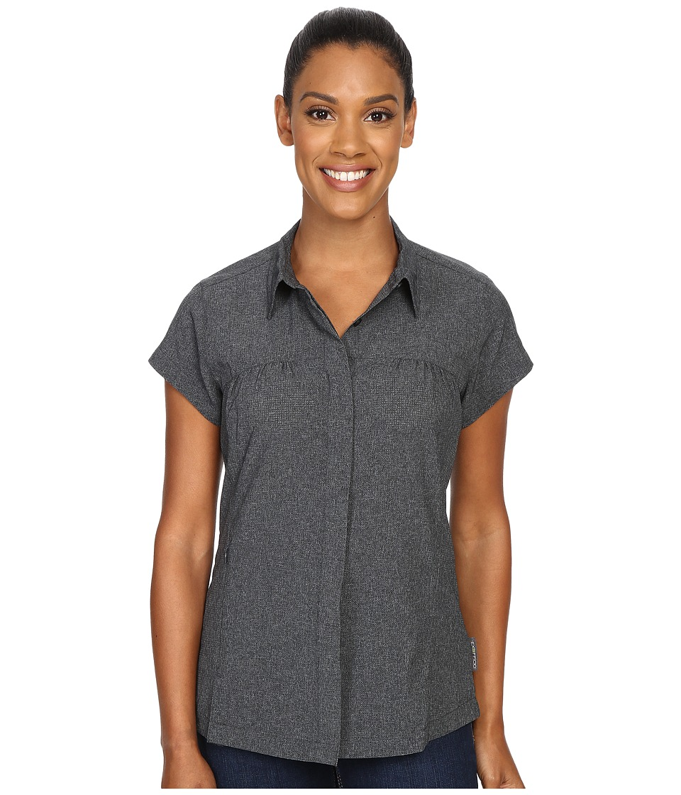 ExOfficio - Air Space Short Sleeve Shirt (Black) Women's Clothing