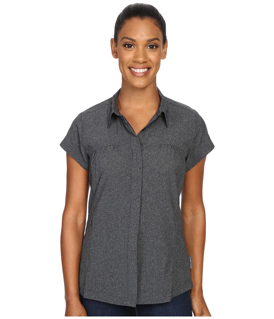 ExOfficio - Air Space Short Sleeve Shirt (Black) Women's Clothing