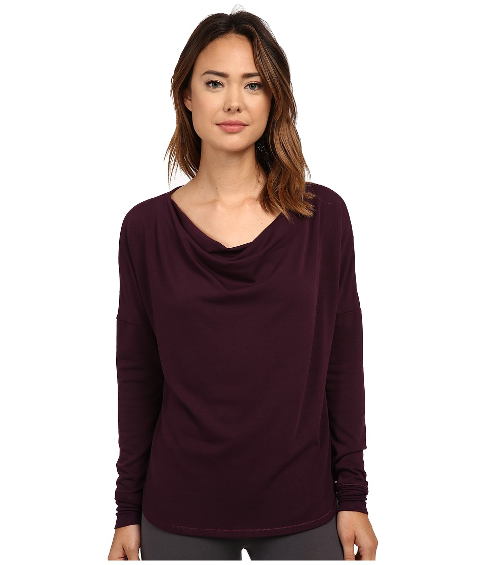 Midnight by Carole Hochman - Lounge Cowl Neck Top (Dark Currant) Women's Clothing