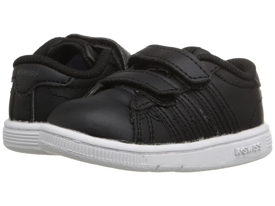 K-Swiss Kids - Hoke Strap (Infant/Toddler) (Black/White Leather) Kids Shoes