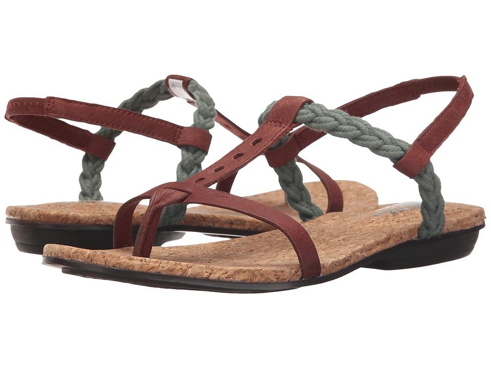 The North Face - Bridgeton Braid Slingback (Mahongany Brown/Laurel Wreath Green) Women's Sandals
