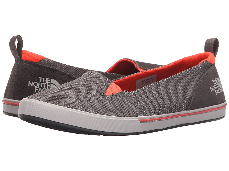 The North Face - Base Camp Lite Skimmer II (Dark Gull Grey/Tropical Coral) Women's Slip on Shoes