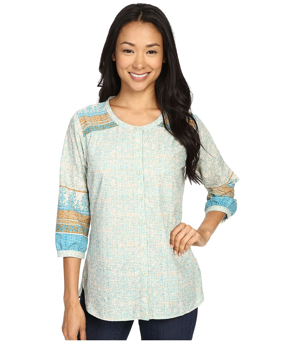 ExOfficio - Next-To-Nothing Artisan (Azul Print) Women's Blouse