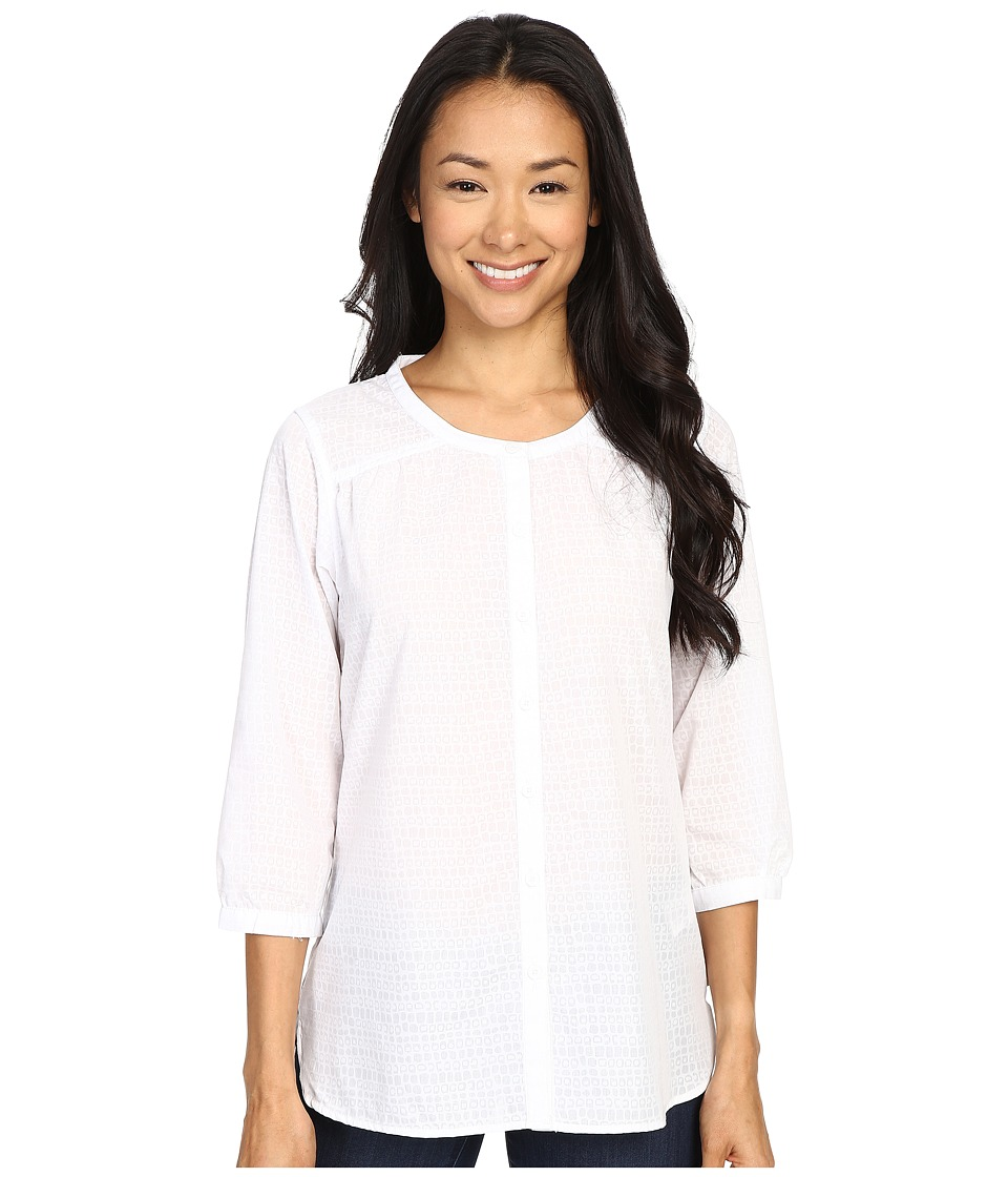ExOfficio - Next-To-Nothing Artisan (White Solid) Women's Blouse
