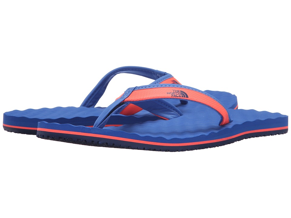 The North Face - Base Camp Mini (Tropical Coral/Dunkel Blue) Women's Toe Open Shoes