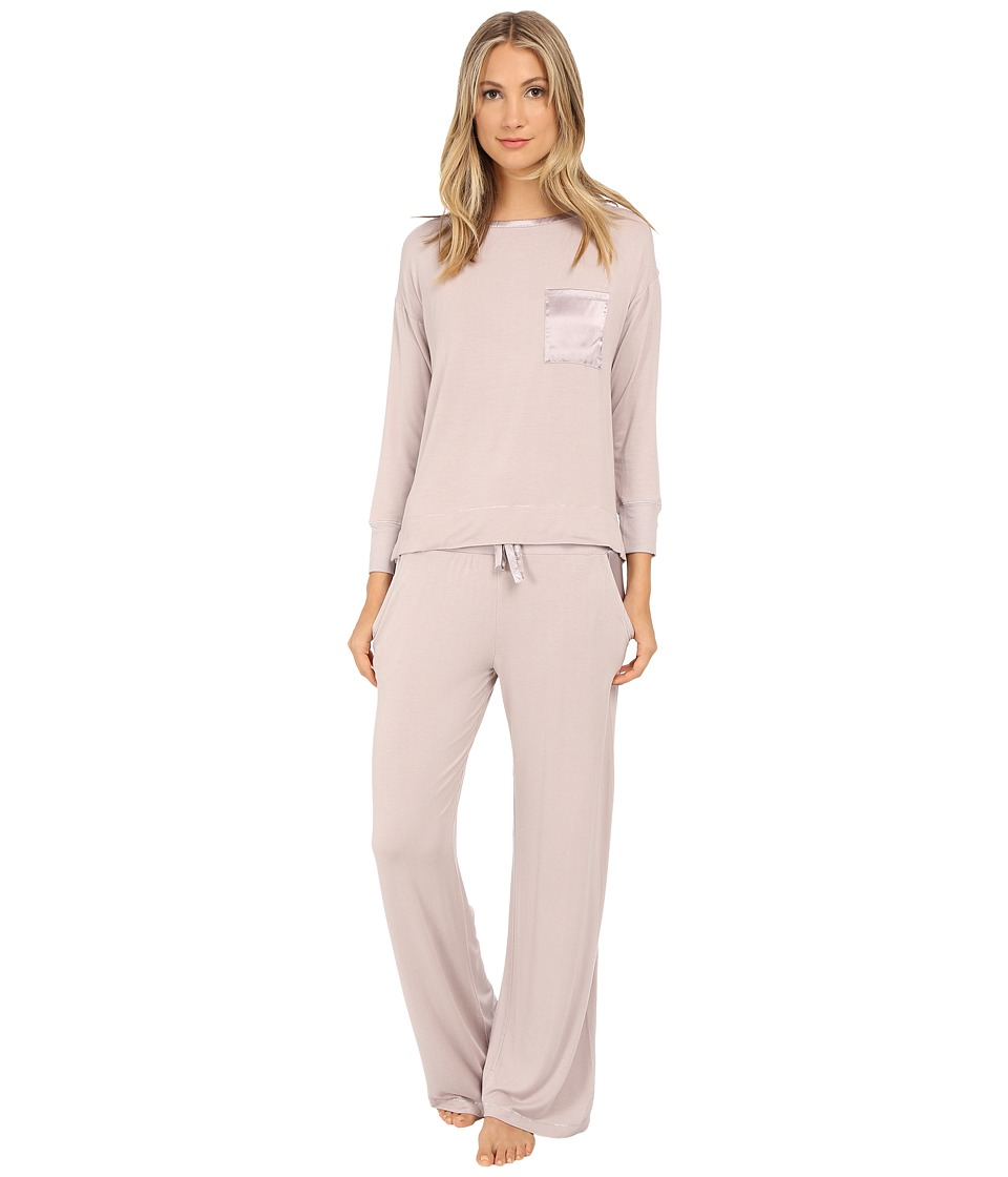 Midnight by Carole Hochman - Day Dreamer Pajama Set (Pale Grey) Women's Pajama Sets