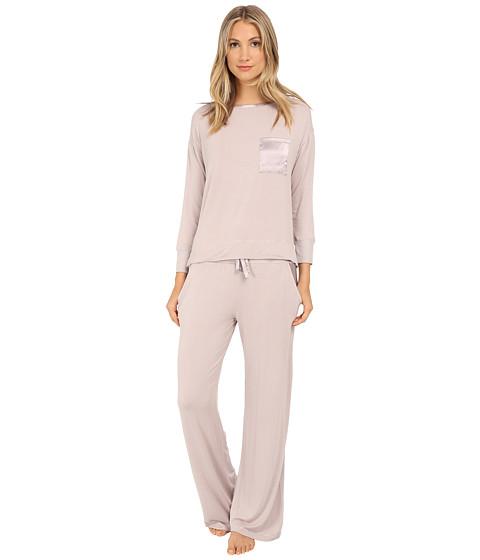 Midnight by Carole Hochman - Day Dreamer Pajama Set (Pale Grey) Women's Pajama Sets