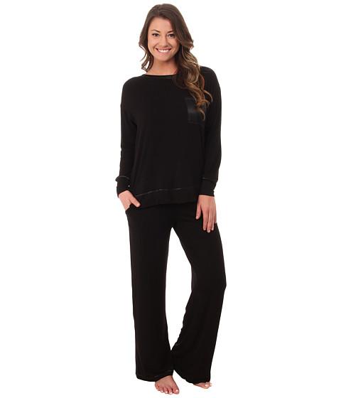 Midnight by Carole Hochman - Day Dreamer Pajama Set (Black) Women's Pajama Sets