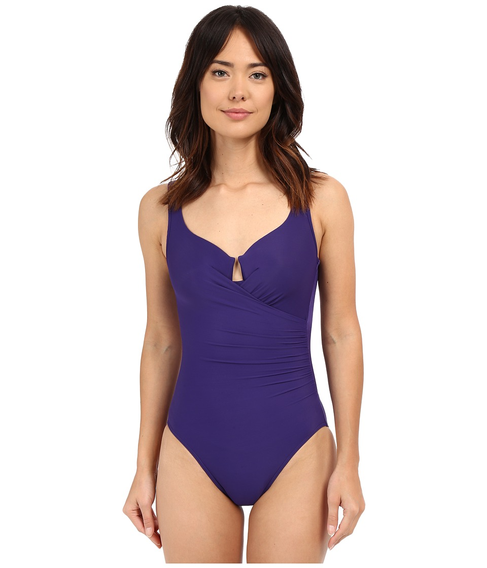 Miraclesuit - Must Haves Escape One-Piece (Eggplant) Women's Swimsuits One Piece