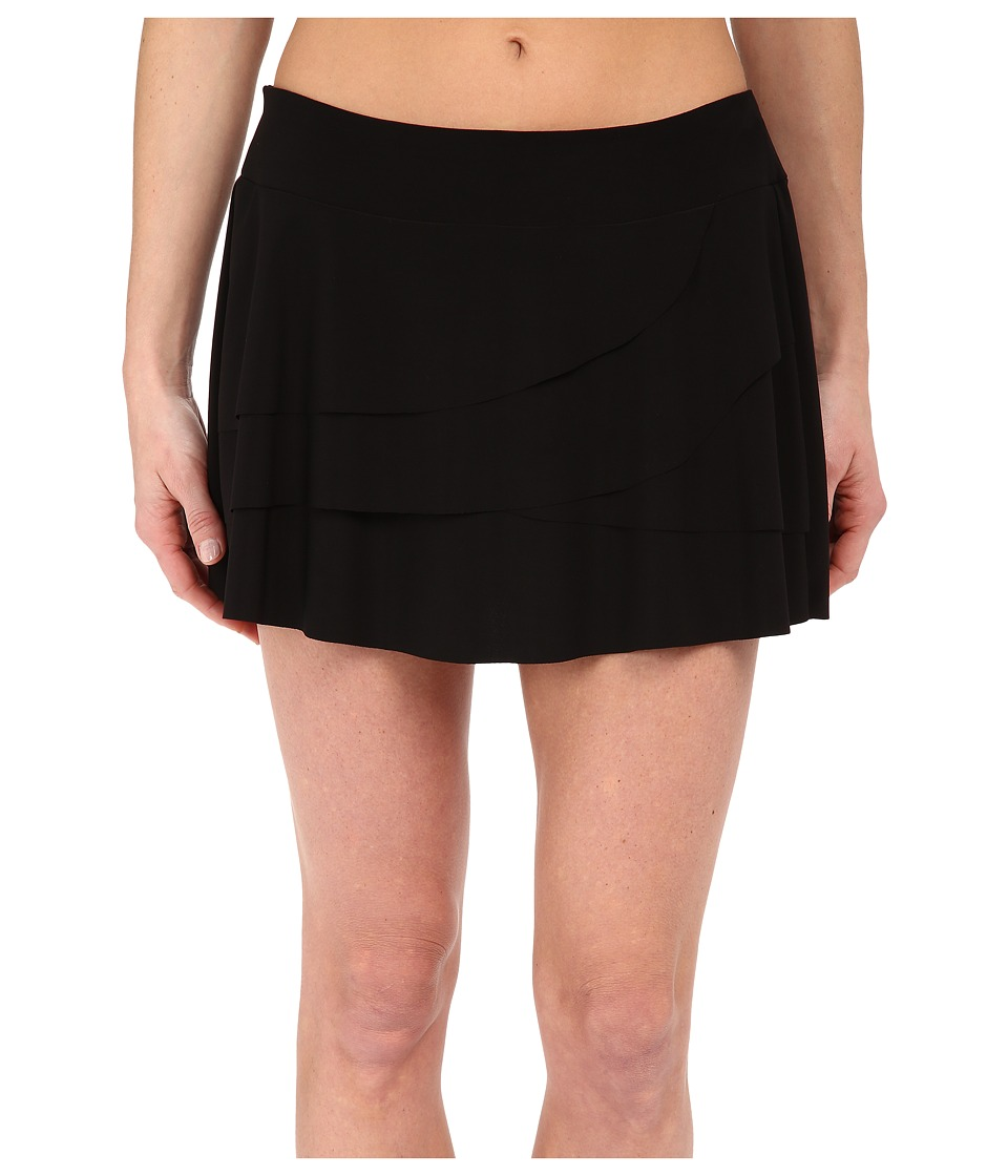 Miraclesuit - Layered Ruffle Skirt Bottoms (Black) Women's Swimwear