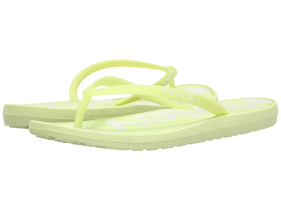 Hurley - One Only Printed Sandal (Light Liquid Lime A) Women's Sandals