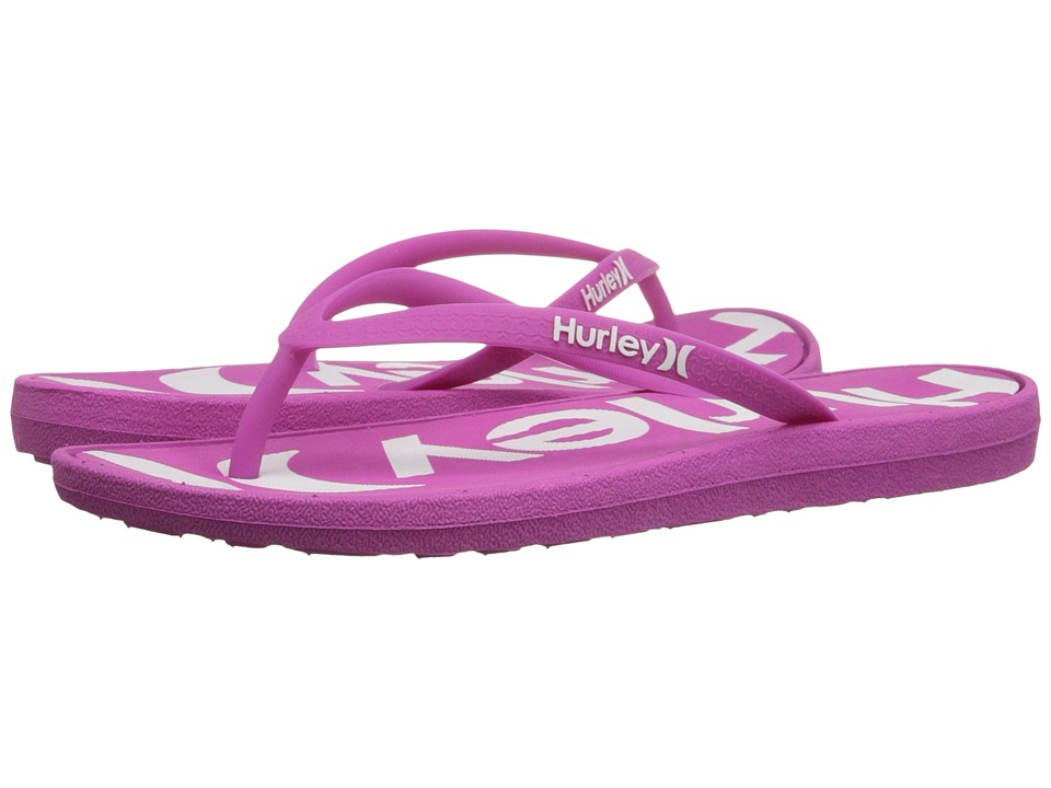 Hurley - One Only Printed Sandal (Fire Pink) Women's Sandals