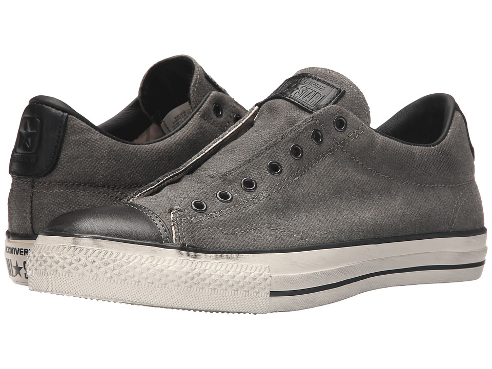 Converse by John Varvatos Chuck Taylor All Star Burnished Canvas (Beluga/Black/Turtledove) Slip on Shoes