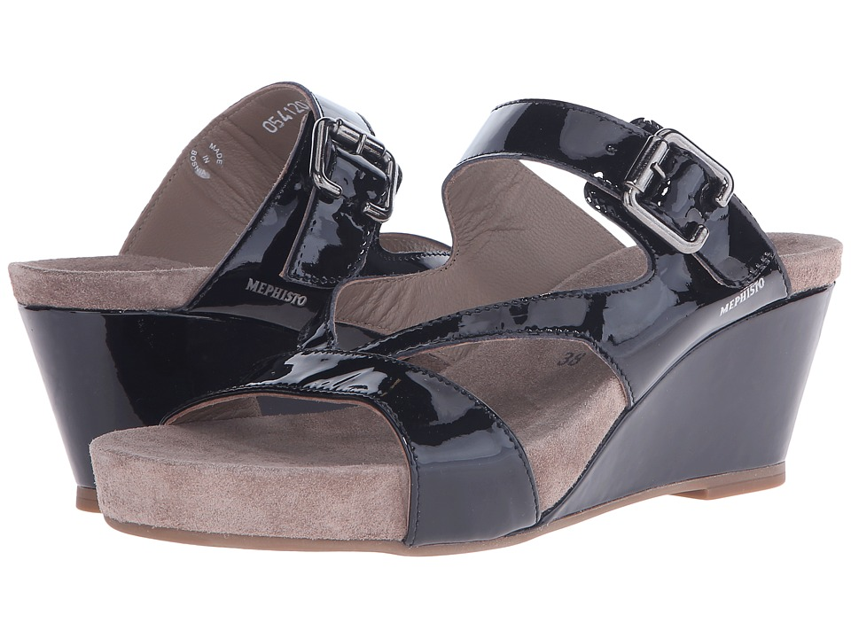Mephisto - Beatrix (Black Patent) Women's Sandals