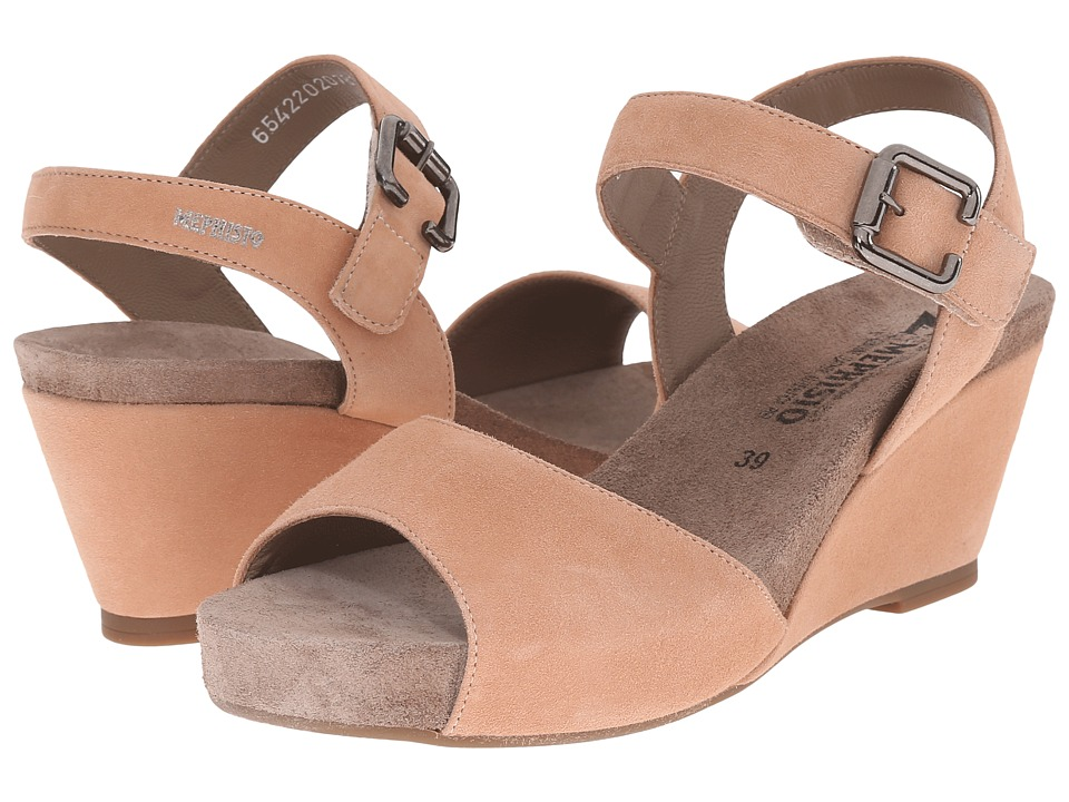 Mephisto - Beauty (Old Pink Velcalf Premium) Women's Wedge Shoes