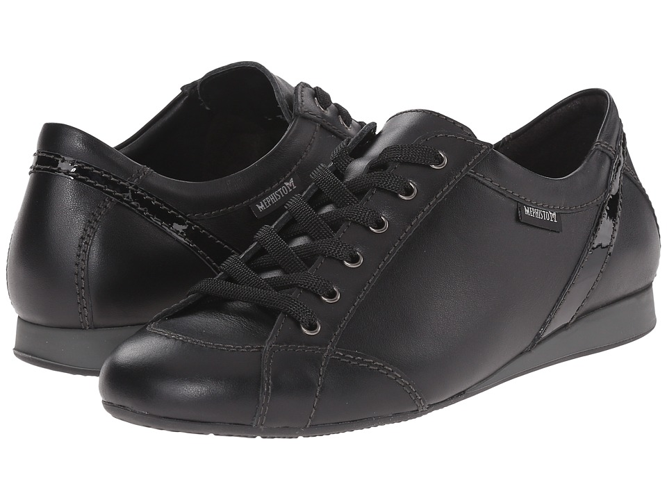 Mephisto - Bernie (Black Smooth/Patent) Women
