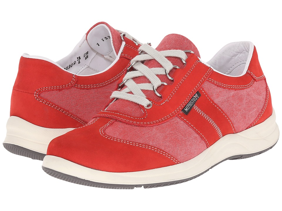 Mephisto - Laser (Strawberry Bucksoft/Beige) Women's Lace up casual Shoes