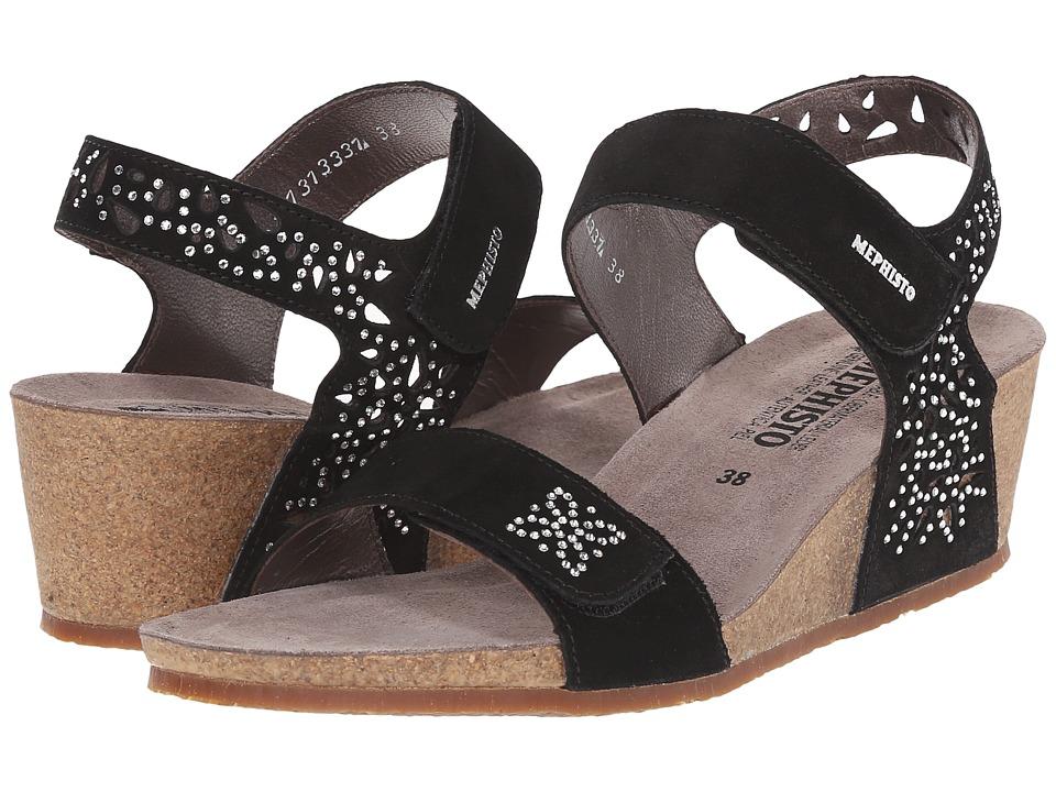 Mephisto - Marie Spark (Black Suede) Women's Sandals