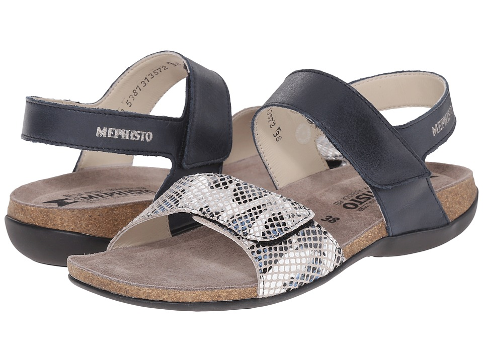 Mephisto - Agave (Navy Steve/Denim Boa) Women's Sandals