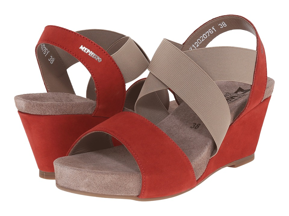 Mephisto - Barbara (Red Bucksoft) Women's Sandals