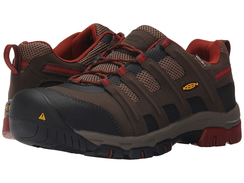 Keen Utility - Omaha Low Waterproof (Cascade Brown/Burnt Henna) Men's Industrial Shoes